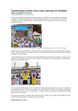 Corrida de Guaramiranga é realizada em clima festivo!