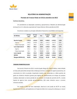 Relatório do 3° trimestre de 2013 - Souza Cruz