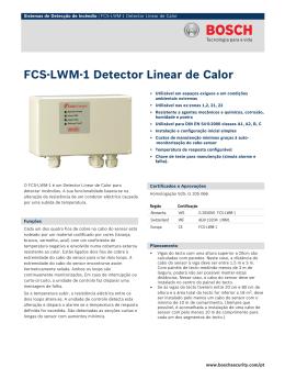 FCS‑LWM‑1 Detector Linear de Calor
