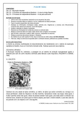 Cap. 32 – Revolução Industrial Cap. 34 – O Processo de