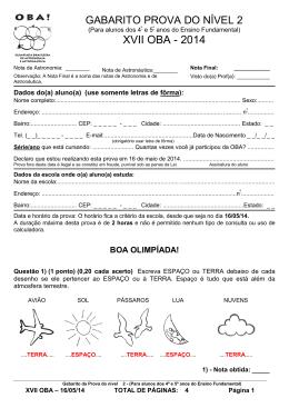 SOCIEDADE ASTRONÔMICA BRASILEIRA – SAB