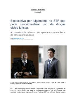 Expectativa por julgamento no STF que pode descriminalizar uso de