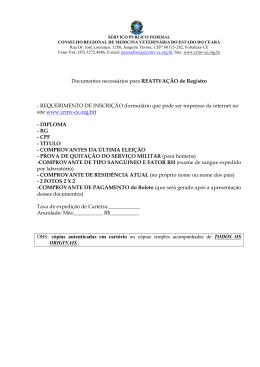Reativação de Inscrição - Crmv-ce