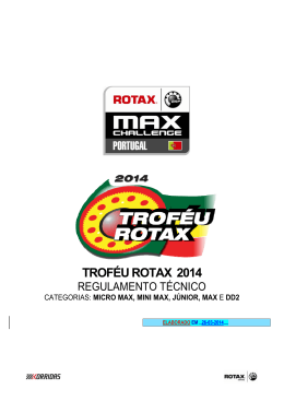 Regulamento Técnico do Troféu Rotax 2014