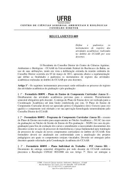 Regulamento 009 - Define e padroniza os instrumentos de