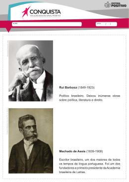 Rui Barbosa (1849-1923) Político brasileiro