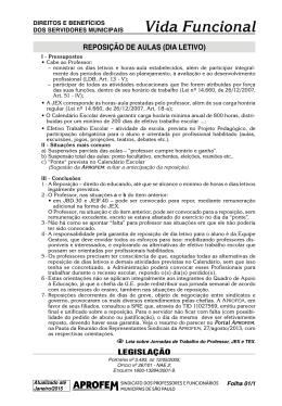 REPOSIÇãO DE AULAS (DIA LETIVO)