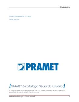 PRAMET E-catálogo `Guia do Usuário`