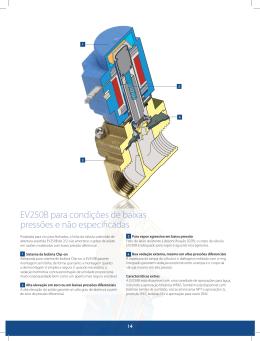 EV250B para condições de baixas pressões e não