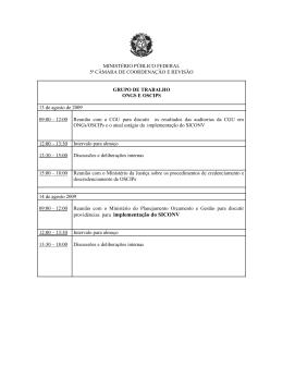 providências para implementação do SICONV
