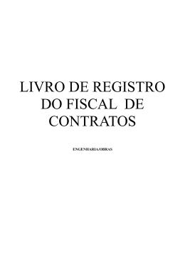 LIVRO DE REGISTROS FISCAL CONTRATO ENGENHARIA E OBRAS