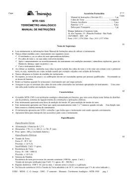 mtr-1505 terrômetro analógico manual de instruções