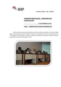 SEMINÁRIO RÁDIO DIGITAL - EMC Solução em Telecomunicações