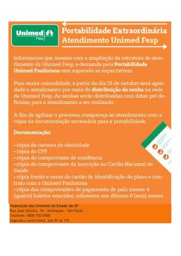 fe8781e1702 Federação das Unimeds do Estado de SP Rua José