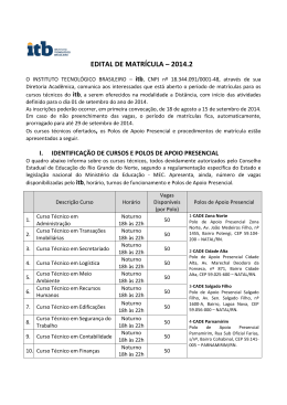 Edital de Matrícula 2014
