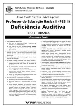 PEB II - Deficiência Auditiva