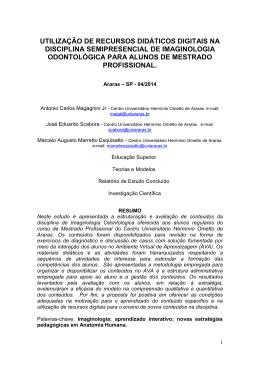 utilização de recursos didáticos digitais na disciplina semipresencial