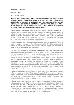 Informativo n º 737 – STF RHC N. 117.748