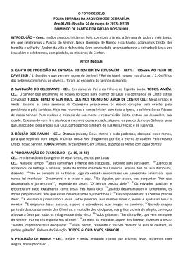 Domingo de Ramos - Arquidiocese de Brasília