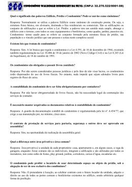 CONDOMÍNIO WALDEMAR RODRIGUES DA SILVA (CNPJ: 32.270