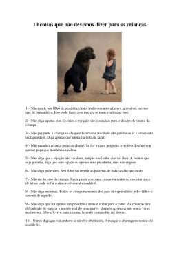 10 coisas que não devemos dizer para as crianças