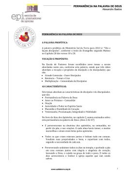 Escola de Pastores - Perman#U00c3
