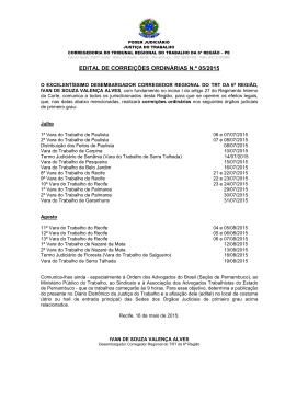 Edital 05/2015 - Tribunal Regional do Trabalho da 6ª Região