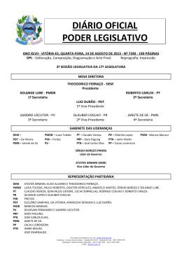 DIÁRIO OFICIAL PODER LEGISLATIVO