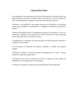 Carta de Rio Verde