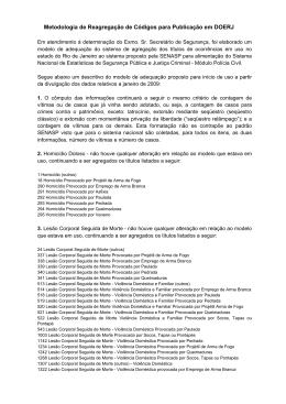 Metodologia de Reagregação de Códigos para Publicação em