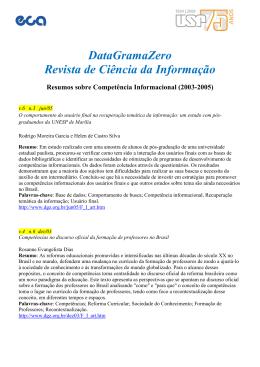 DataGramaZero Revista de Ciência da Informação
