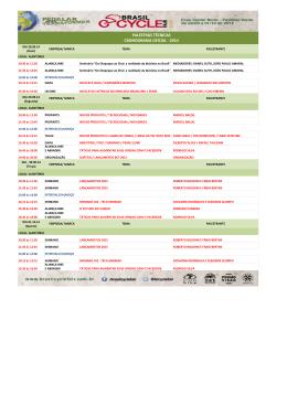 palestras técnicas cronograma oficial - 2014