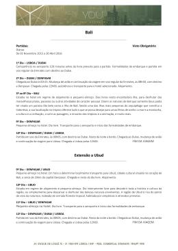 Extensão a Ubud