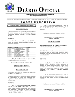 Diário Oficial nº 2.172 - 05 de maio (Quarta-feira)