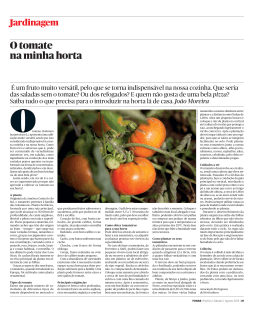 O tomate na minha horta - Associação Portuguesa de Horticultura