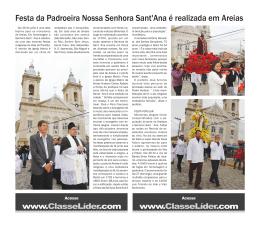 Festa da Padroeira Nossa Senhora Sant`Ana é realizada em Areias