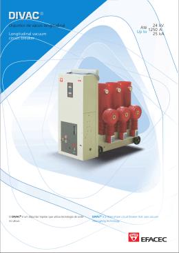 24 1250 25 Até Up to kV A kA Disjuntor de vácuo
