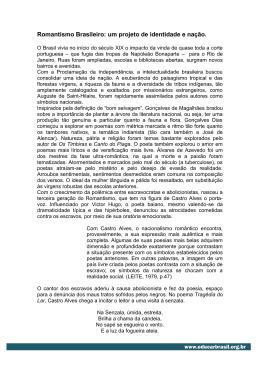 Romantismo Brasileiro: um projeto de identidade e nação.