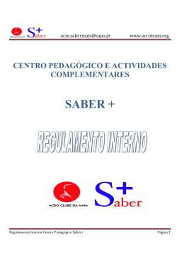 Regulamento Interno - Centro Pedagógico Saber+