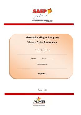 Matemática e Língua Portuguesa 9º Ano – Ensino