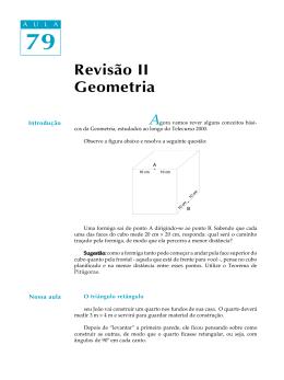 79. Revisão II : Geometria