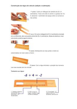 Construção da régua de cálculo (adição e