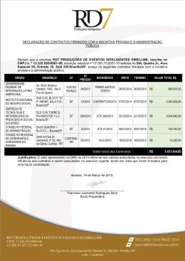 Declaro - Ministério do Planejamento, Orçamento e Gestão