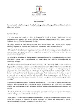 (PCP) - Terreno ladeado pelas Ruas Augusto Macedo, Pires Jorge