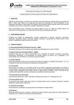 NORMA PARA FORNECIMENTODE ENERGIA ELÉTRICA EM