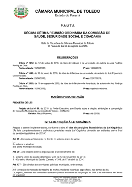 CÂMARA MUNICIPAL DE TOLEDO