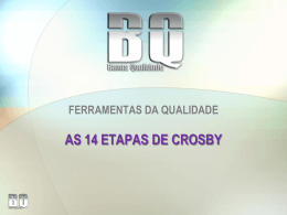 as 14 etapas de crosby