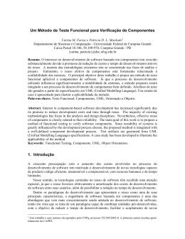 Um Método de Teste Funcional para Verificação de Componentes 1
