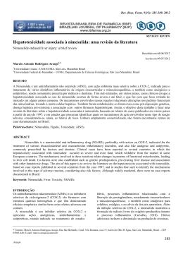 Hepatotoxicidade associada à nimesulida: uma revisão da literatura