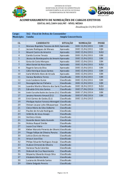 acompanhamento de nomeações de cargos efetivos